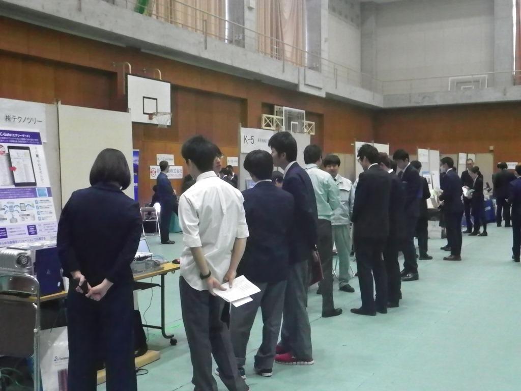 神戸市内工業学校へ企業展示PRをしました